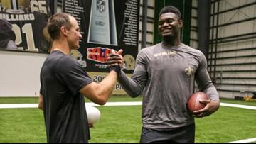 WATCH: Zion accepts Drew Brees' Saints quarterback challenge