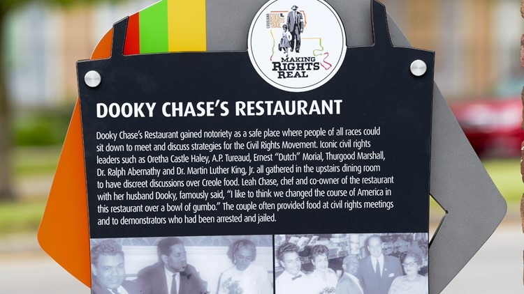 Dooky Chase honored with first marker for Louisiana Civil Rights Trail