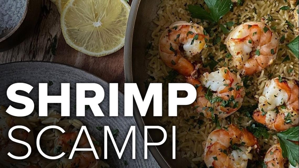 Recipe: Shrimp Scampi over Parmesan Rice