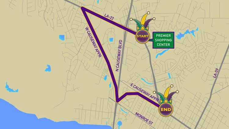 Krewe of Eve 2020 parade route