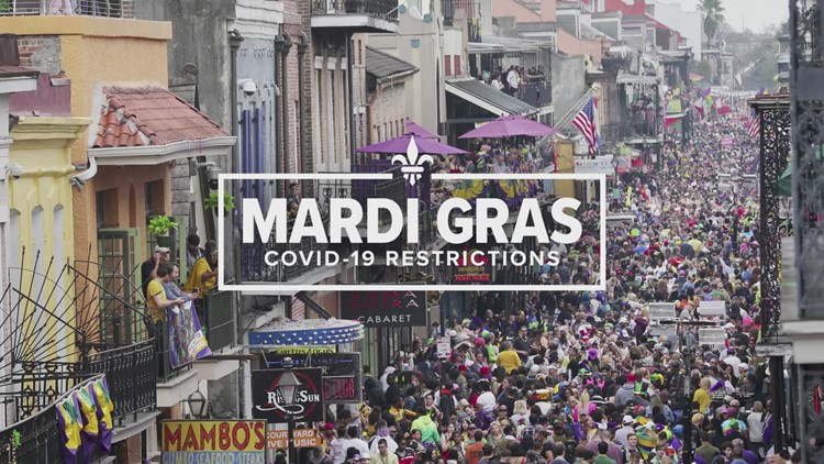 A rare empty and quiet Bourbon Street on Mardi Gras Day
