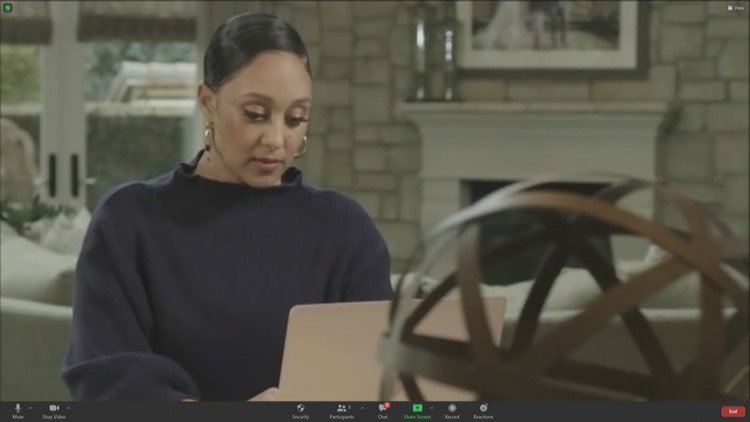 Tamera Mowry-Housley gives tips on balancing work & Family life during COVID