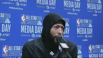Anthony Davis speaks about trade request at NBA All-Star Weekend