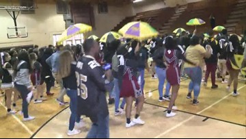 Terrebonne High pep rally for the New Orleans Saints