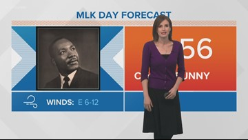 Pinpoint Forecast: Sunny and cool MLK Day weather