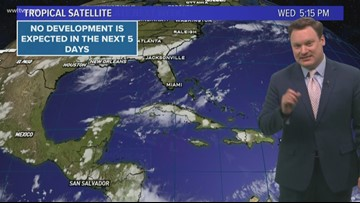 Tropical Weather Update: Wednesday Evening
