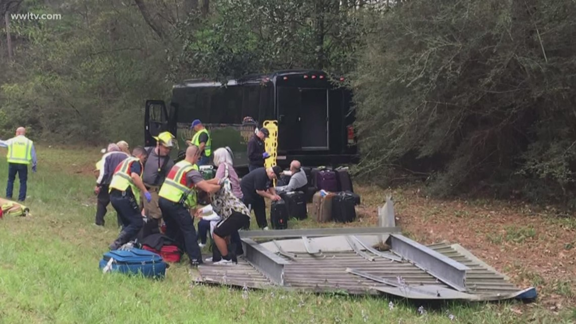Bus crash that injured 26 passengers at LA/MS state line was headed to Harrah's Casino in Biloxi