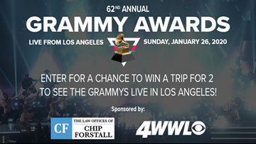Win a trip for 2 to the Grammy Awards in Los Angeles!