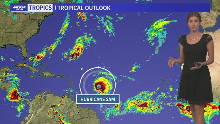 Major Hurricane Sam strengthens but stays over Atlantic