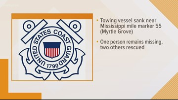 One missing after tugboat capsizes on Mississippi River