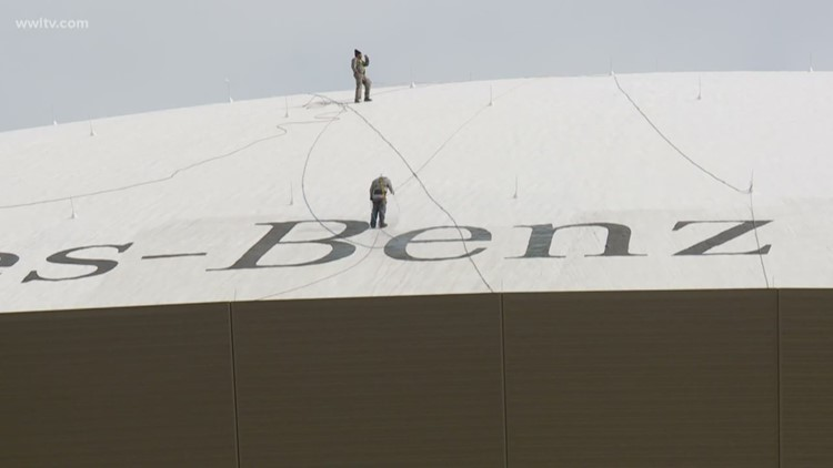 Dirty Superdome roof drawing attention as bowl season approaches