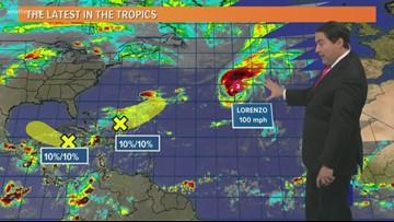 Tropics: Gulf is quiet, Hurricane Lorenzo heads toward the Azores