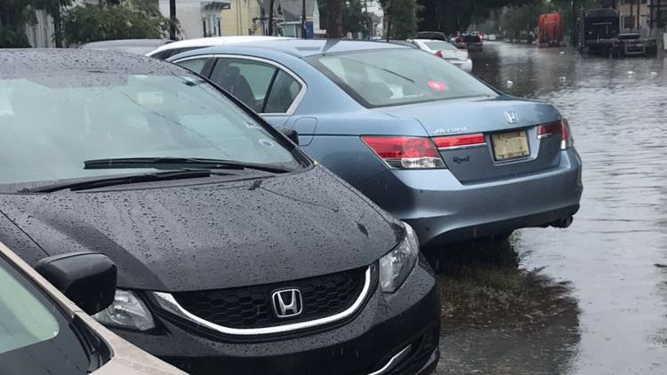 How rainy has it been? New Orleanians parked neutral grounds almost half the time