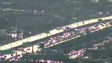 WB expressway headed east shutdown after suspect's car slams police car several times