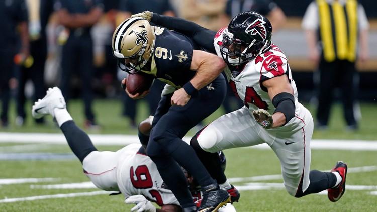 Falcons stun first-place Saints, 26-9
