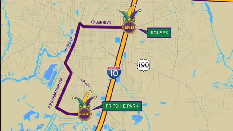Krewe of Poseidon 2020 parade route