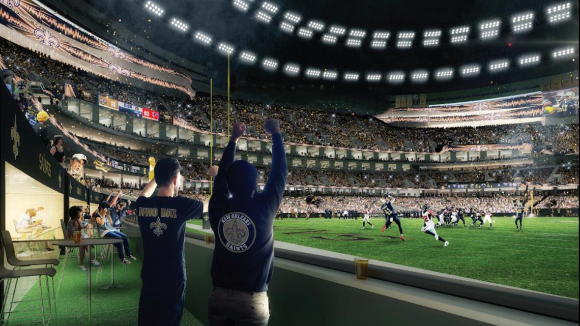 Renderings $450 million Superdome overhaul