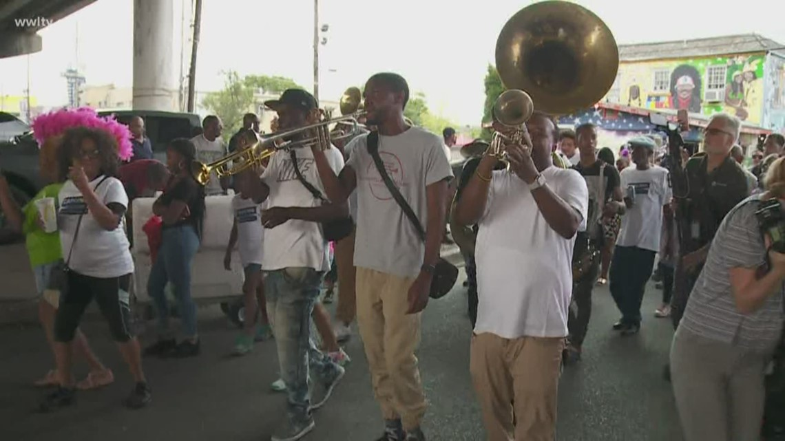 Second line to honor Nancy Parker, CJ Morgan marches in Treme