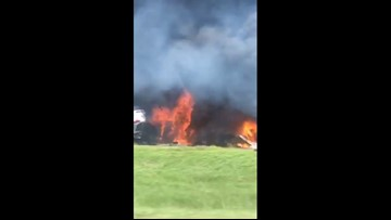 WBRZ video shows deadly fire on I-12