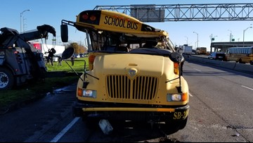Driver of overturned school bus was denied permit, bus never inspected