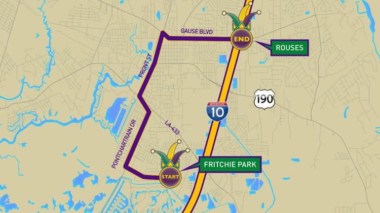 Krewe of Poseidon 2019 parade route