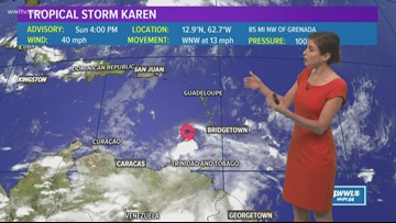 Tropics: Tropical Depression 13 forms, also tracking Karen and Jerry