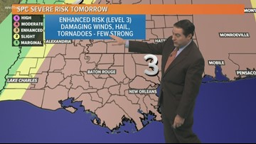 Warm Wednesday but strong storms on the way