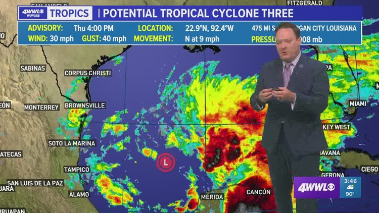 Tropical Storm Warning for much of southeast Louisiana