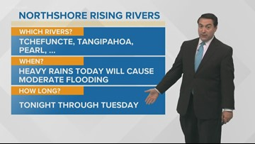 How high will the northshore rivers get?