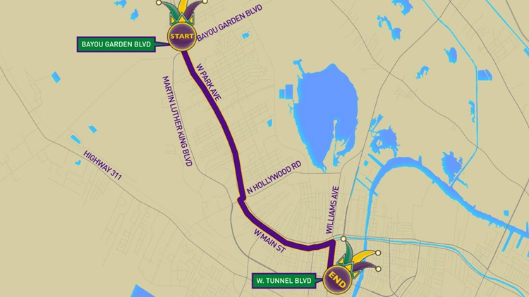 Krewe of Aquarius parade route