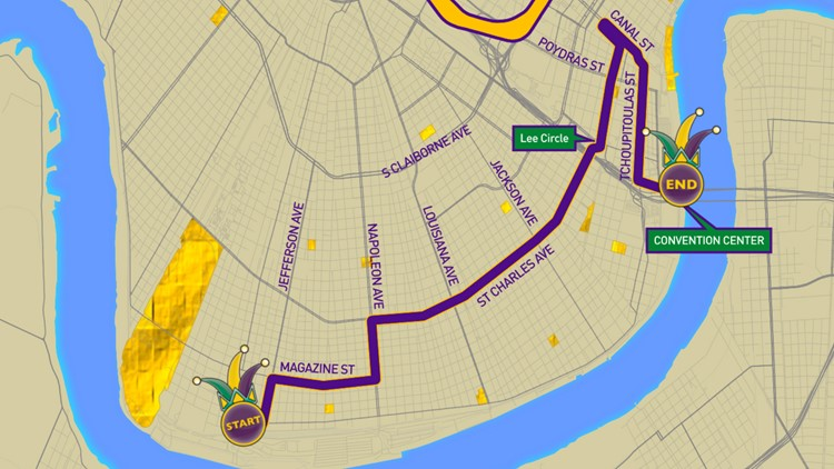 Krewe of Orpheus parade route