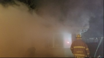 Family displaced after 2-alarm fire in Harvey