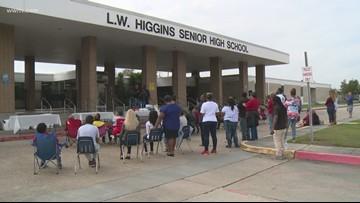 Church holds 'community appreciation day' for L.W. Higgins High School