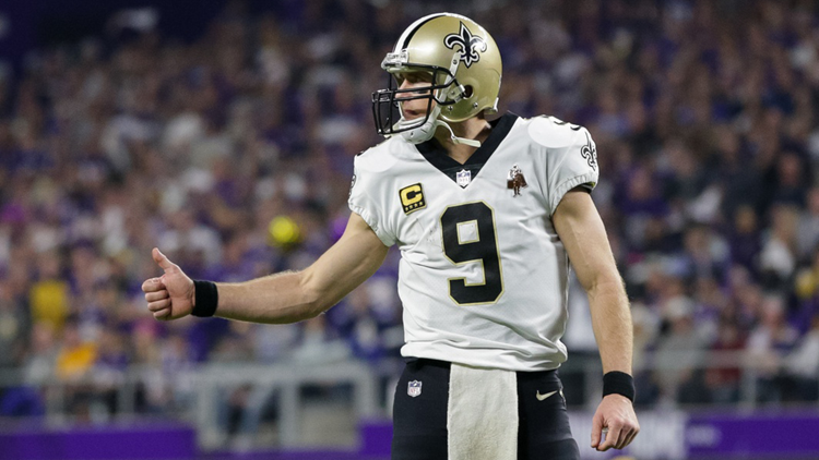 """Brees told ESPN the presentation was """"very emotional"""" and """"really exciting."""""""