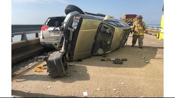 Crash spills nails on Lake Pontchartrain Causeway southbound