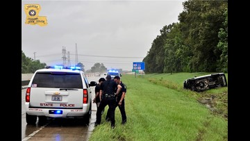 Alleged DWI driver rolls car on I-10 during TS Barry, police find 40 grams of cocaine