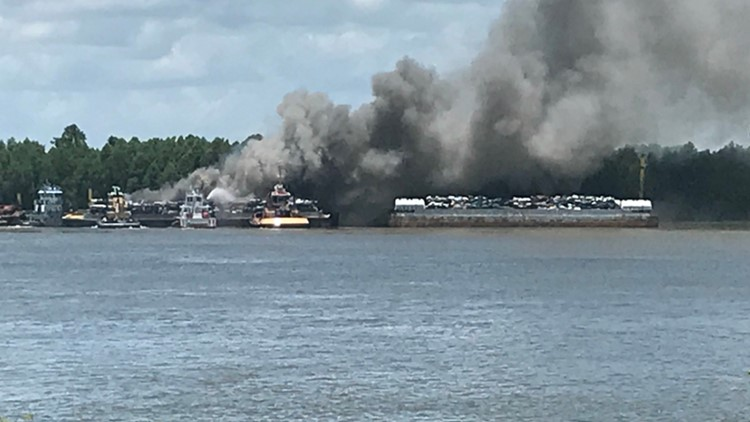 Officials have not said what type of vessel is involved, or if anyone was injured.