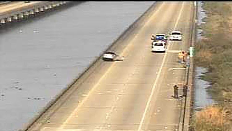Man found shot to death in car after hit-and-run on I-10 West on Spillway