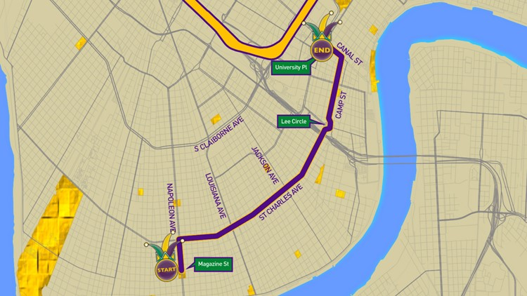 Knights of Chaos parade route