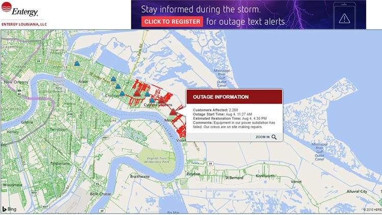 Power Restored To Thousands After Outage In St Bernard Parish
