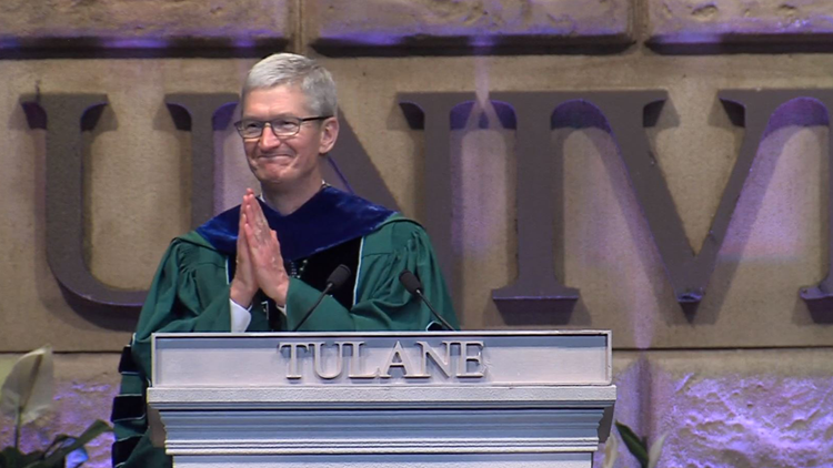 'My generation has failed you:' Apple CEO Tim Cook talks climate change in Tulane University graduation speech