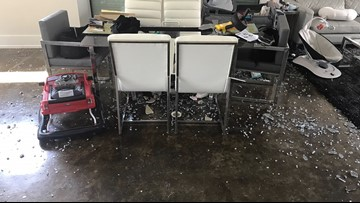 VIDEO: Houston family's glass table explodes without warning