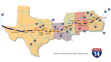 Some envision new I-14 route through South, including Louisiana