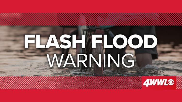 Flash Flood Warning for New Orleans, Northshore until 11:15 AM