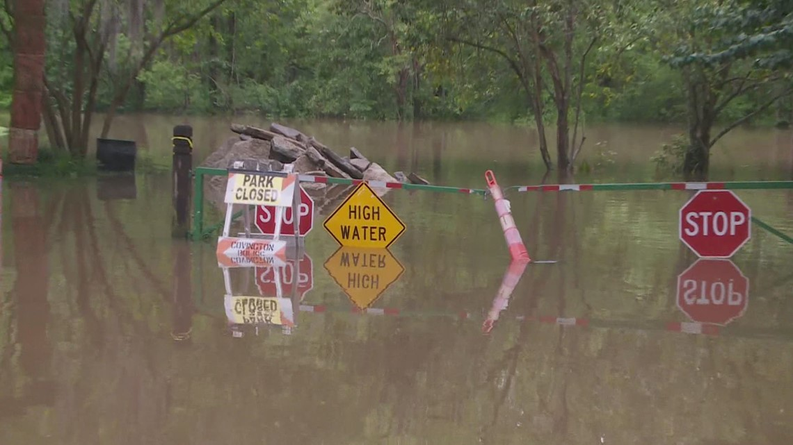 River levels rising earlier than expected on the Northshore