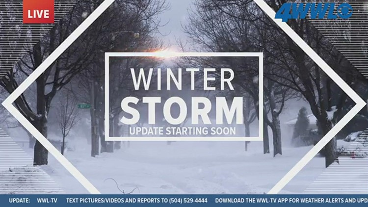 Winter storm approaches New Orleans: Sunday morning update