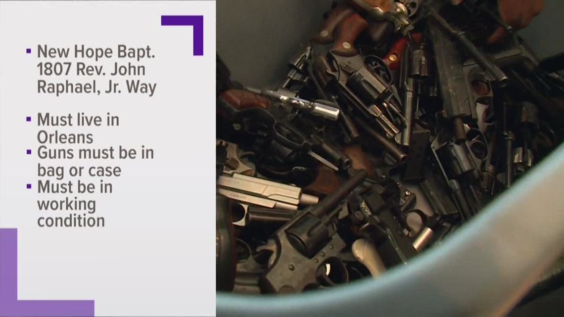 New Orleans' gun buyback draws huge crowd, questions from residents