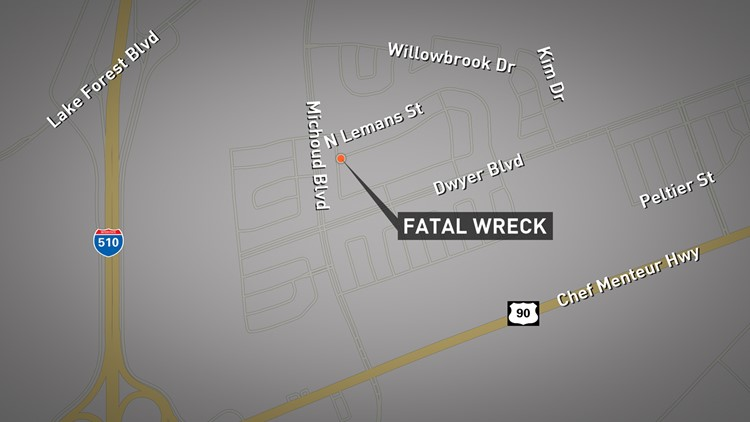 The wreck happened around 7:20 a.m. in the 13400 block of North Nemours Street.