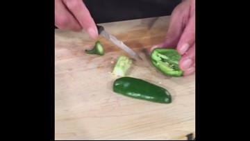 How to cut and seed a Jalapeño