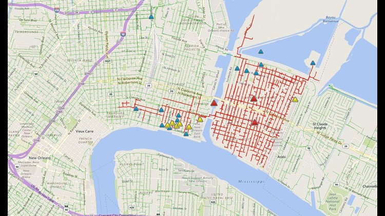 UPDATE: Power restored in Lower 9th Ward, Bywater | wwltv.com